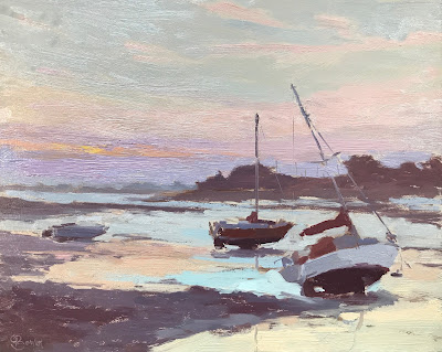#233 'Dawn, Langstone' 8×10″
