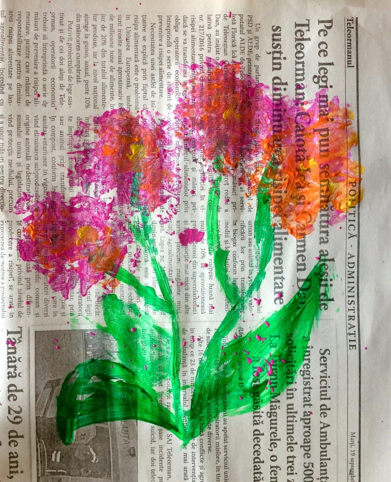 Crizanteme pe ziar