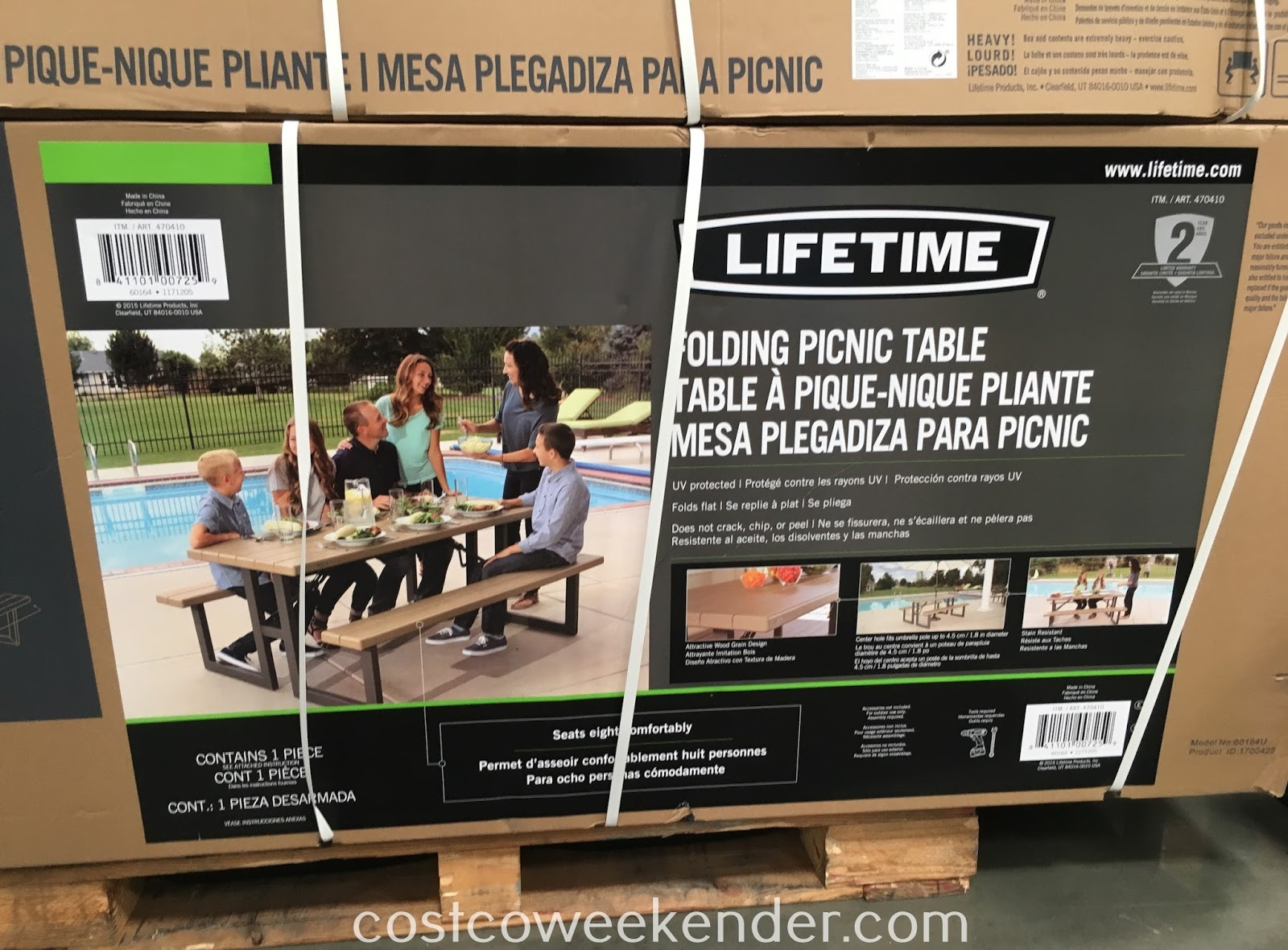 Costco 470410 - Provide enough seating for guests at your next outdoor party