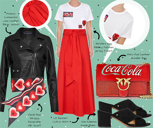 Red Passion/6: LK Bennett + French Connection + Fendi