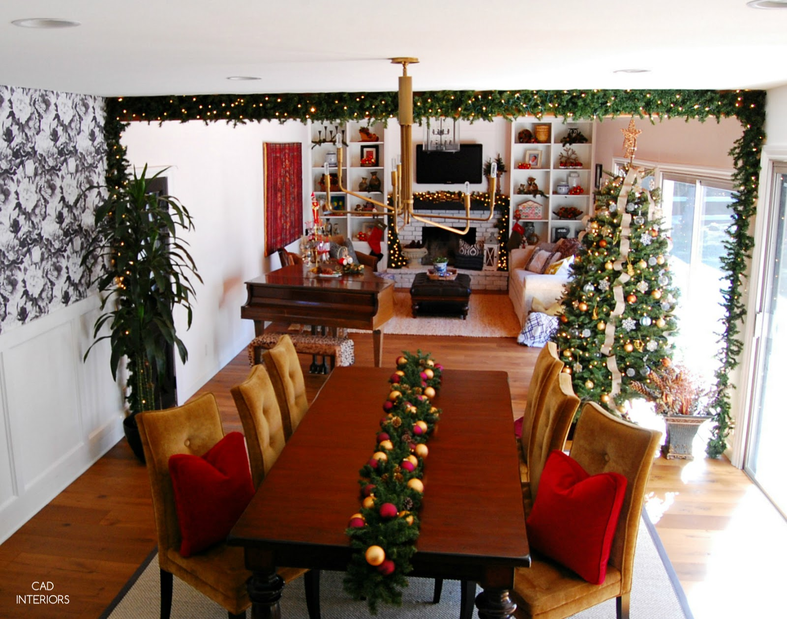 eclectic traditional modern classic holiday decorating winter holiday home tour