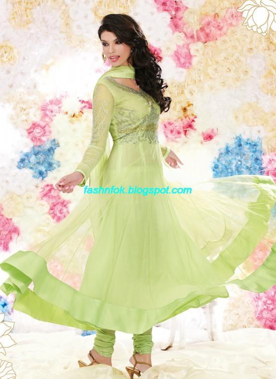 Fashion & Fok: Bridal Anarkali Wedding Fancy Frocks ...