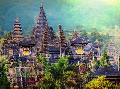 Gambar Pemandangan Alam di Indonesia Bali Pura Basakih Keindahan Alami