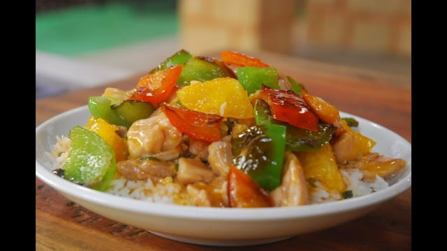 Sweet-and-Sour-Chicken-Rice-see-video