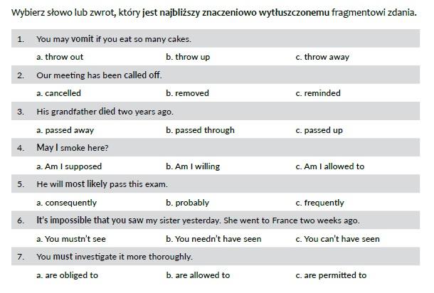 photocopiable środki językowe matura rozszerzona