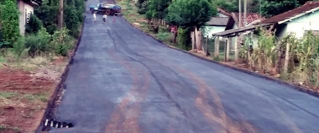 Nova Cantu: Ruas do Cantuzinho recebem pavimentação asfáltica