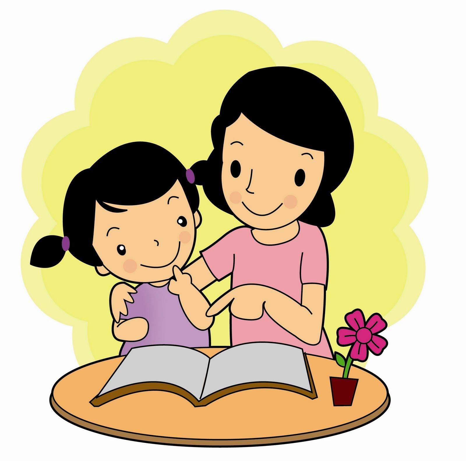 49 Gambar Kartun Lucu Ibu Dan Anak