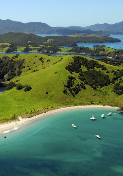 The Bay of Islands is an area in the Northland Region of the North Island of New Zealand. Located 60 km north-w