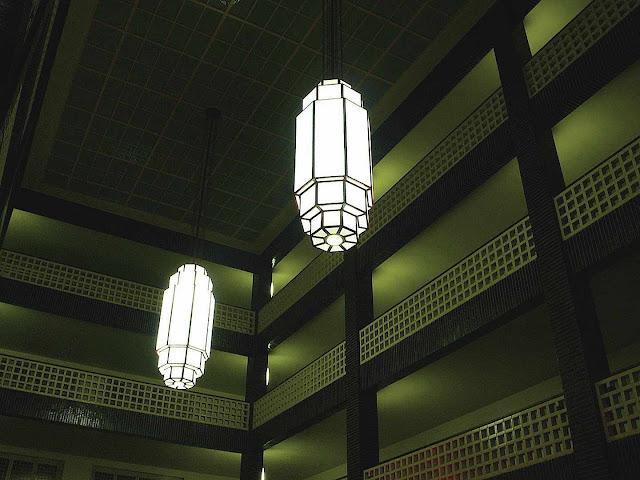 Hans Poelzig lights, a color photograph