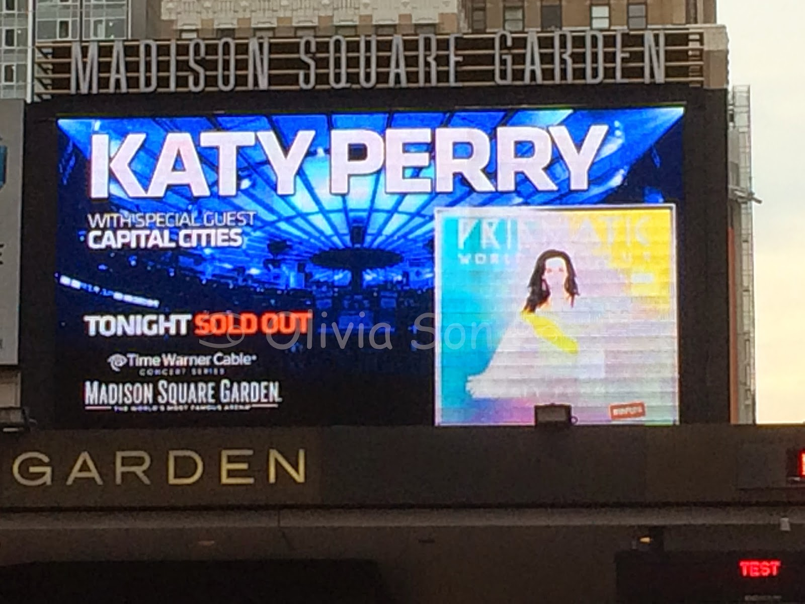 katy perry prismatic world tour madison square garden, new york city, usa