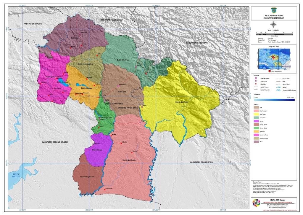 Daftar Nama kecamatan dan desa di Kabupaten Maybrat ...
