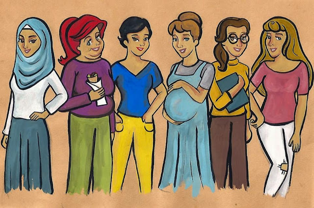Disney princesses as modern day Egyptian girls