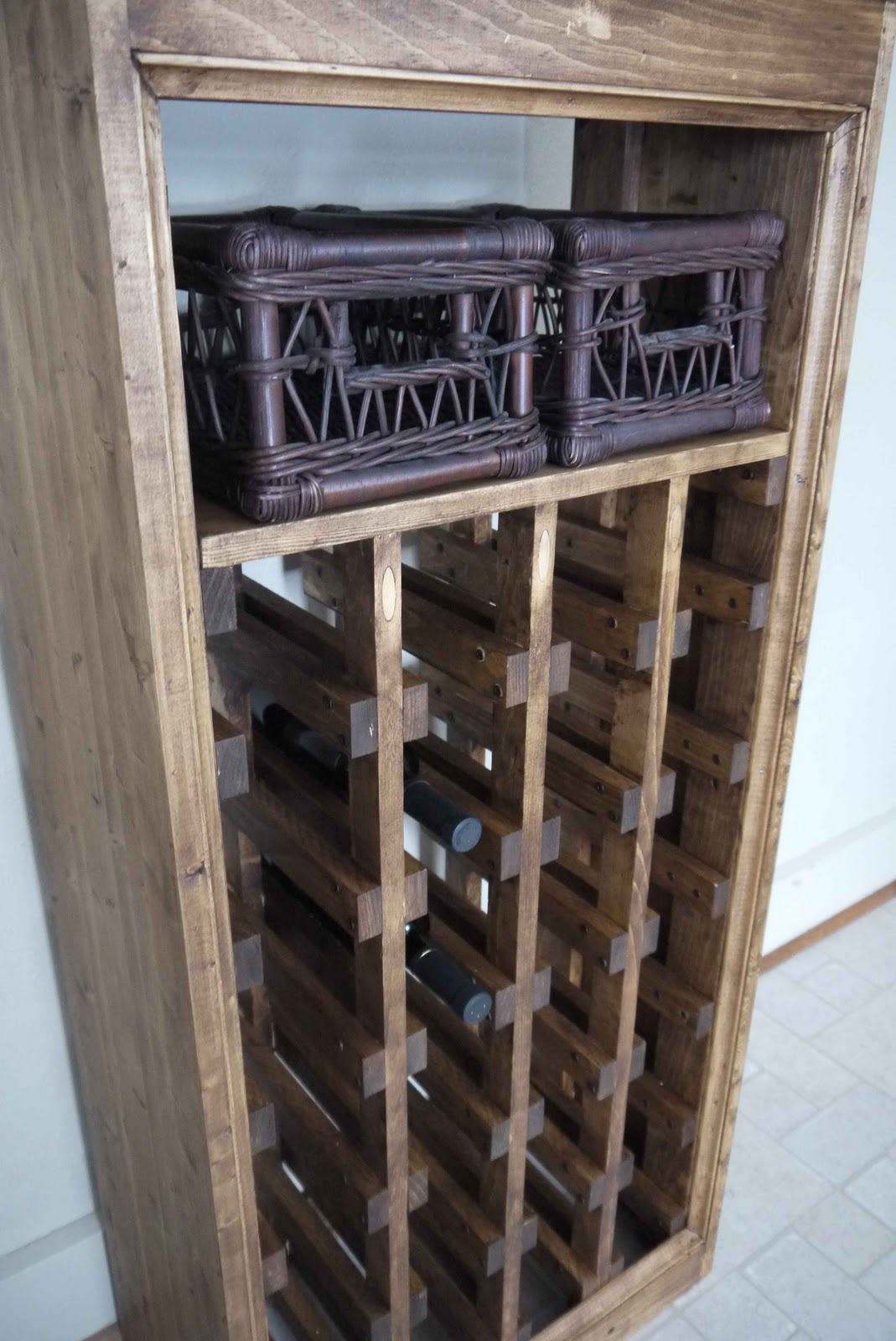 Rhubarb Diaries: DIY Wine Rack - Completed!