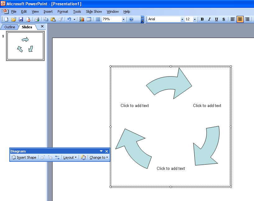 Diagrams In Microsoft Power Point 2003 ~ Microsoft Office