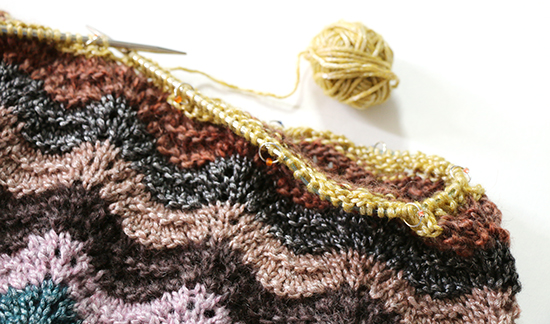 Detail Photo of Ripple Top in Feather and Fan Stitch