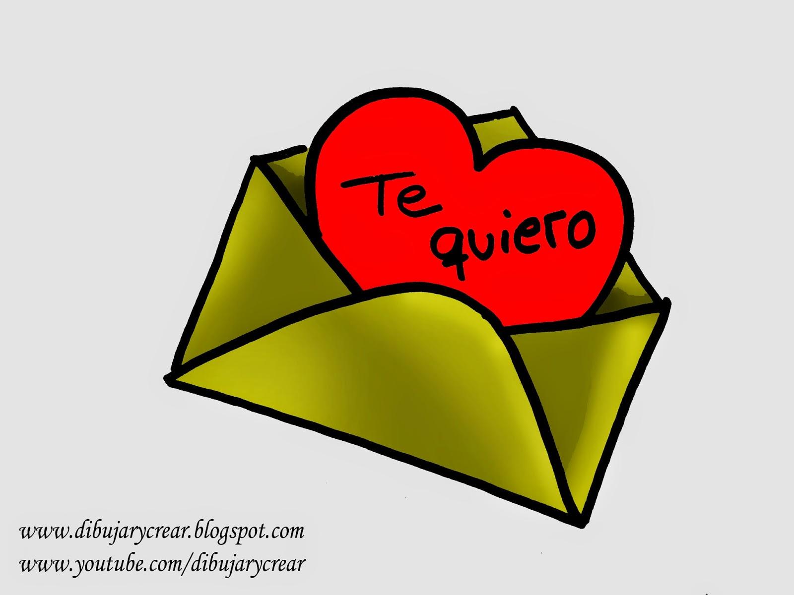 San Valentin Dibujos En Color: Dibujar Y Crear: Como Dibujar Una Carta De Amor (Especial