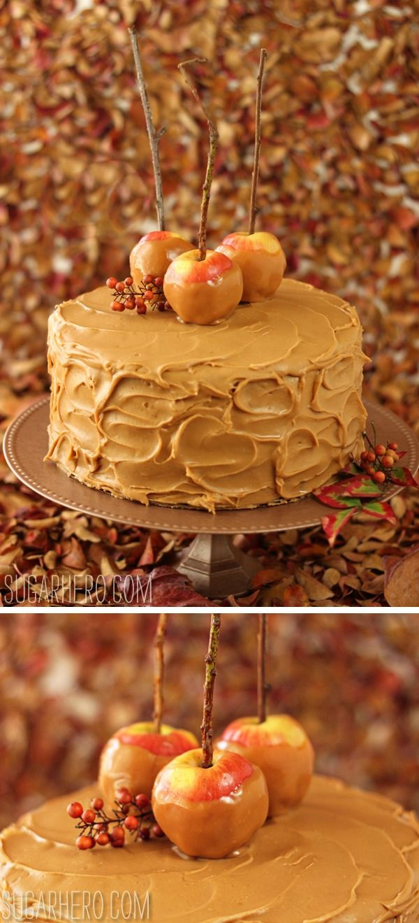 apple cake with maple buttercream