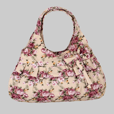 Bolso de moda de tela floreada