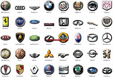 Group Of Lamborghini Car Symbols And