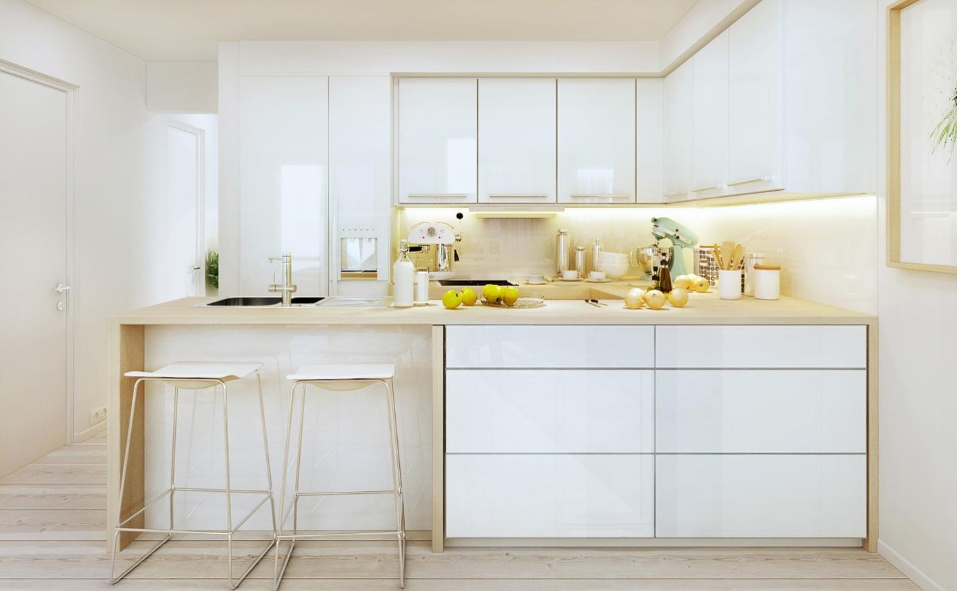 Desain Dapur Modern Nuansa Putih 01