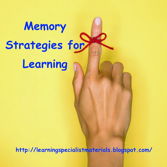 Memory strategies for school