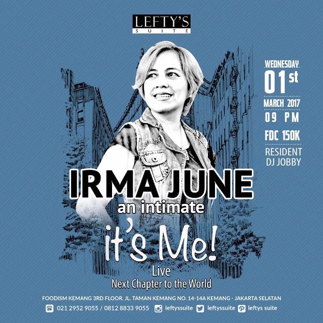 Brosur Irma June an Intimate It's Me! Live (Dokumentasi Pribadi)