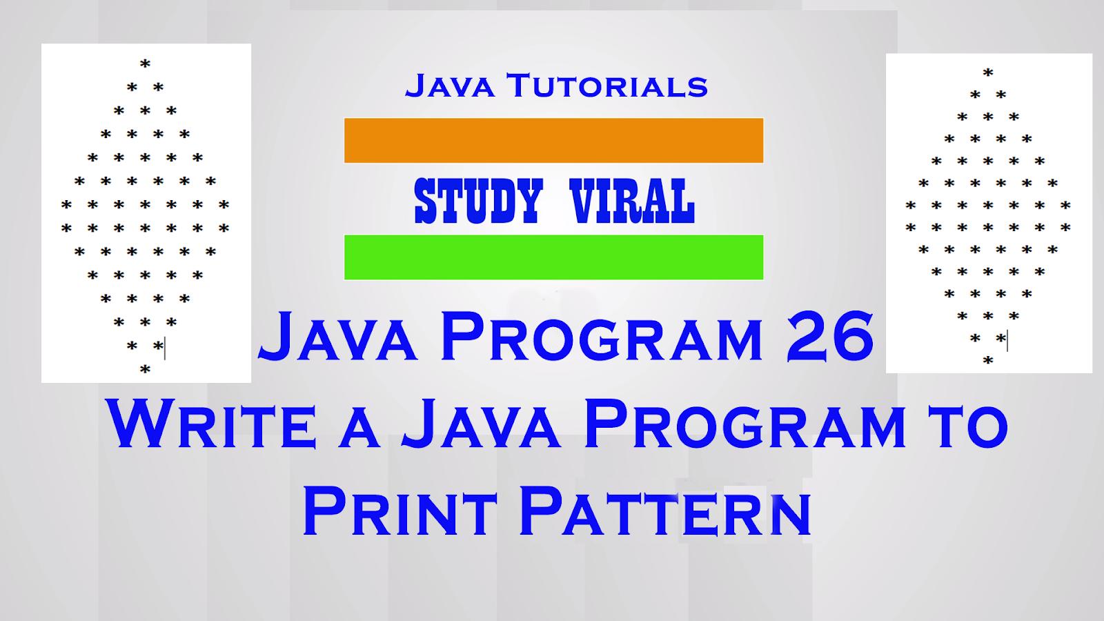 Java Program 26 - Java Program to Print Star Pyramid