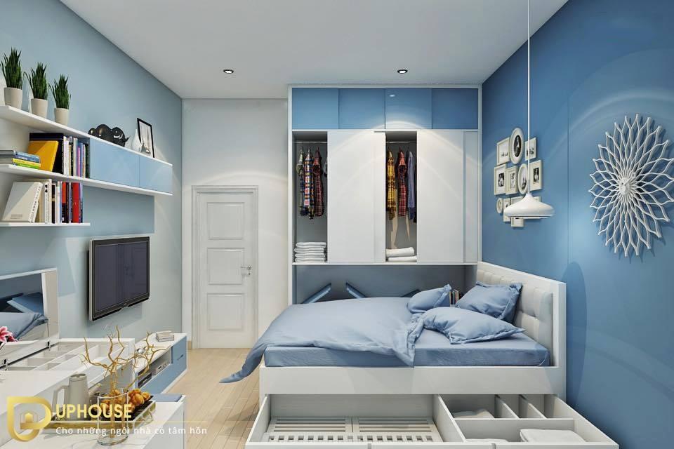 Màu sơn phòng ngủ mệnh Hỏa 12