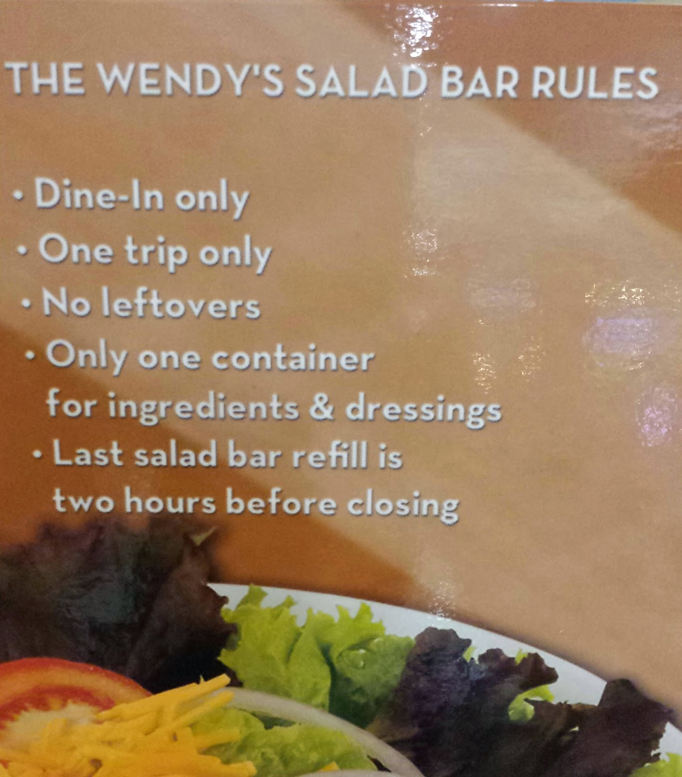 Occasions of JOY: Wendy's Salad Bar Review