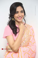 Actress Ritu Varma Pos in Beautiful Pink Anarkali Dress at at Keshava Movie Interview .COM 0352.JPG
