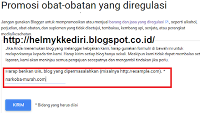 Cara Melaporkan Konten Blog Yang Tidak Pantas