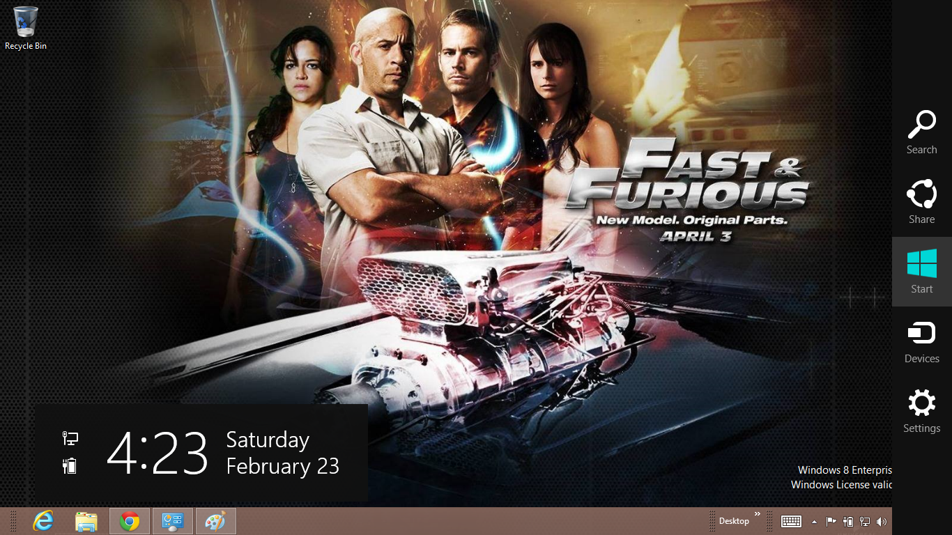 Fast And The Furious 7 Wallpaper: Download Gratis Tema Windows 7: Fast And Furious 6 Windows