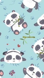 Imágenes Kawaii Tiernas Hermosas Amor osos ositos animales pandas bamboo Fondos whatsapp