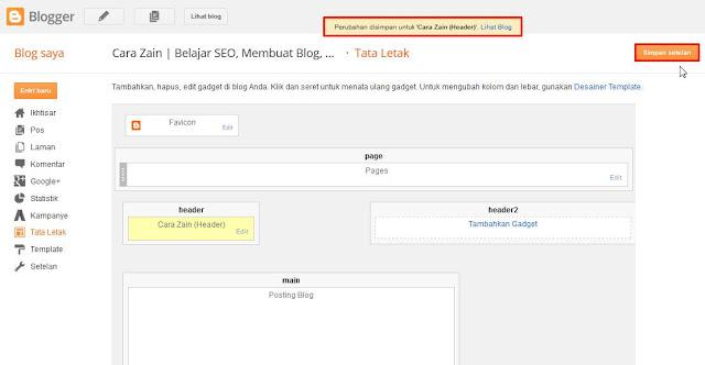 Cara Mengganti Judul Blog Dengan Gambar/Logo Di Header