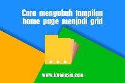 Cara mengubah tampilan home page menjadi grid