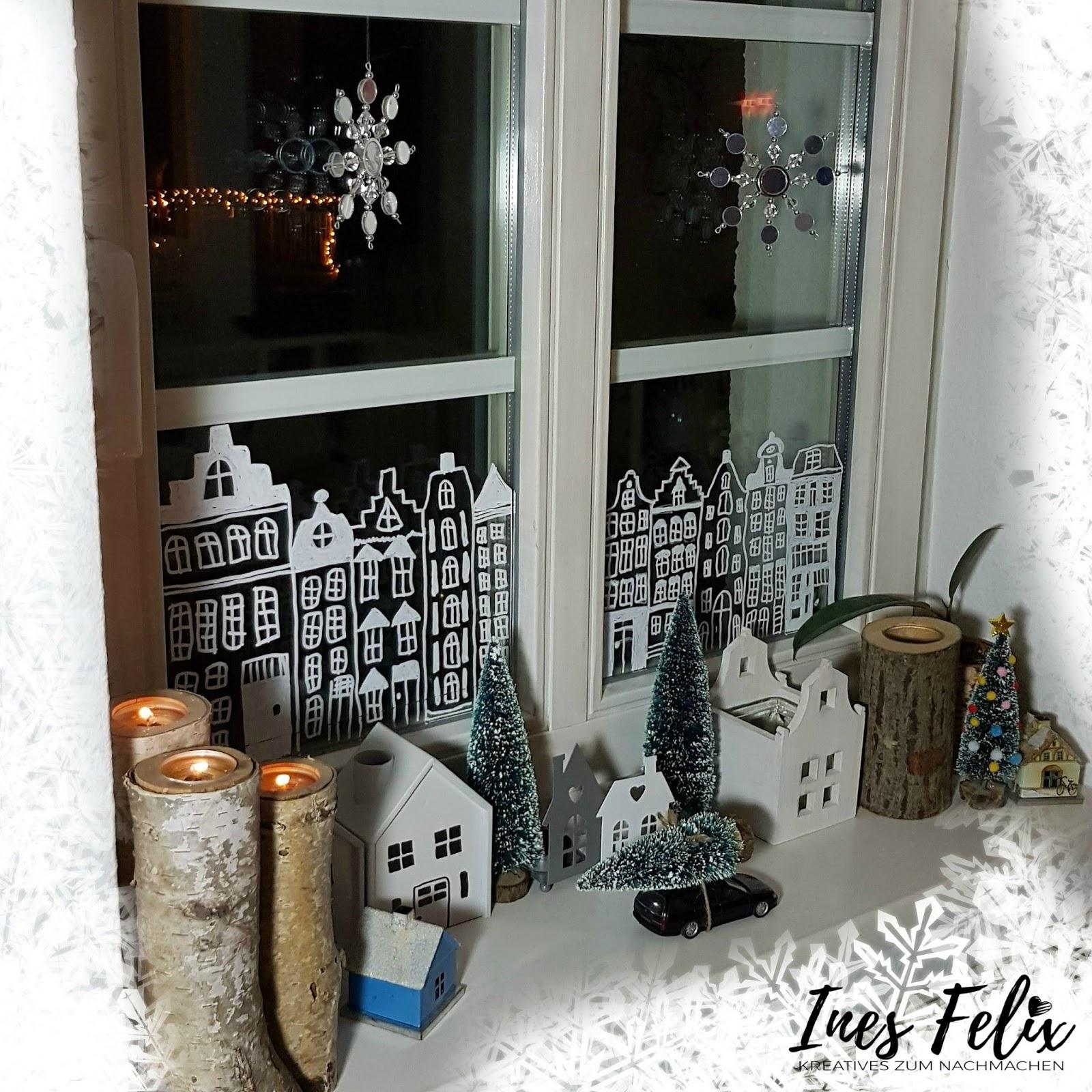 ines felix kreatives zum nachmachen winter weihnachts fensterdekoration. Black Bedroom Furniture Sets. Home Design Ideas