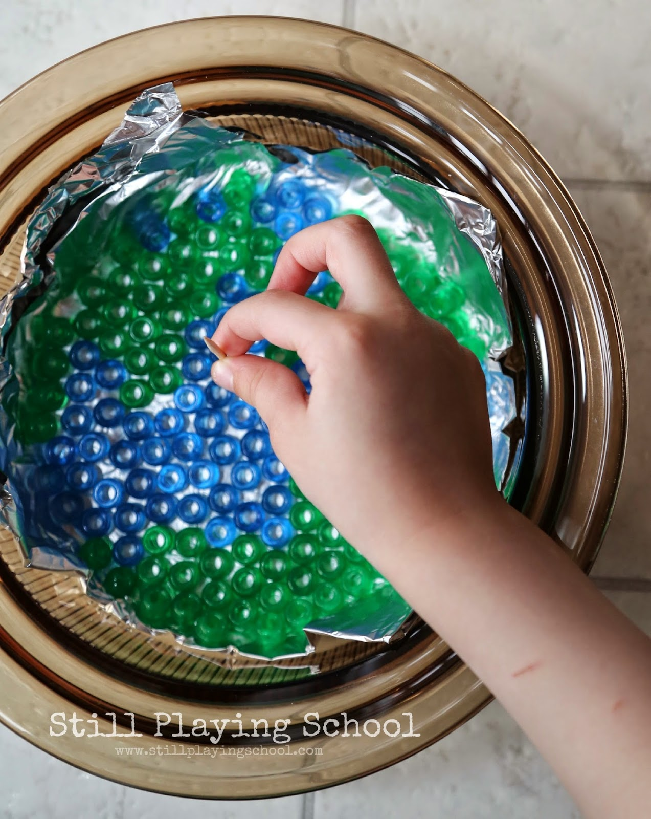Melted Bead Transparent Earth Craft