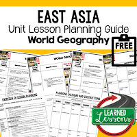 East Asia geography lesson plans, world geography lesson plans, geography activities, world geography games, world geography middle school, world geography high school