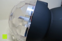 seitlich: GHB Disco Light Lichteffekte Bühne DJ Beleuchtung Bluetooth Lautsprecher Mini-Kartensteckplatz rotierenden MP3 disco licht mit USB Anschluss