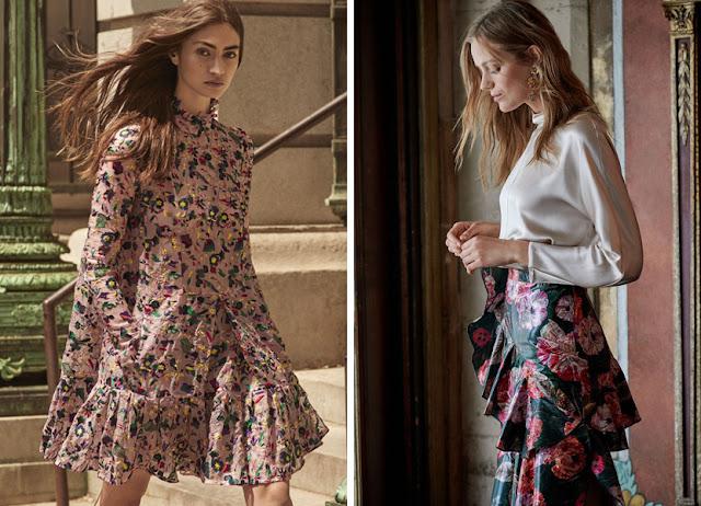Девушки в платье и юбке с воланами