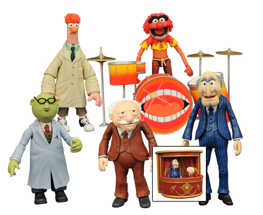 The Muppets Select Series 2 Animal action figure set.