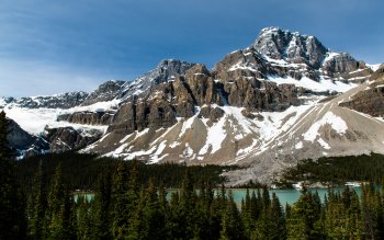 Wallpaper: Natural Scenery. Banff National Park. Bow Lake
