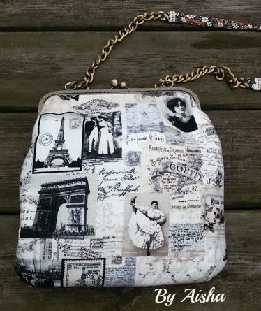 Bolso con boquilla de Paris hecho a mano