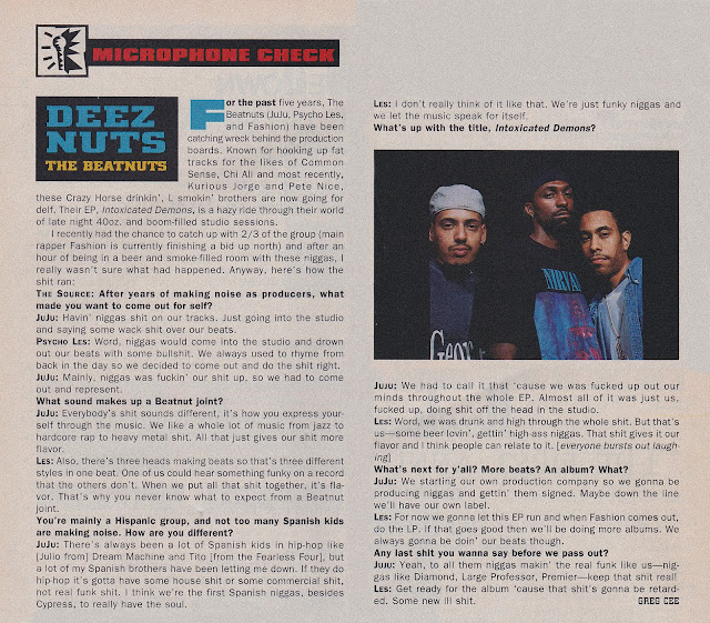 The Beatnuts Intoxicated Demons The Source June 1993