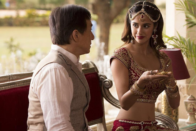 "Disha Patani with Jackie Chan in ""Kung Fu Yoga"" Movie Still"