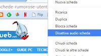 Disattivare l'audio di un sito in Chrome
