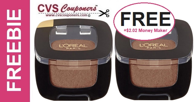 FREE L'Oreal Eye Shadow CVS Deal - 5/5-5/11