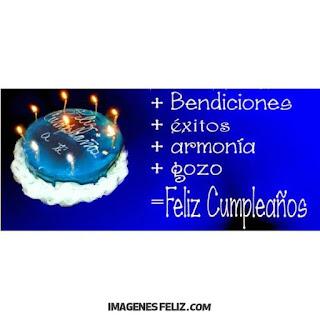 Feliz Cumpleaños para  Hombre. Tarjeta azul sobria con bellos deseos para muro de Facebook