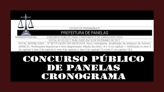 CONCURSO PÚBLICO DE PANELAS - NOVO EDITAL COM NOVO  CRONOGRAMA