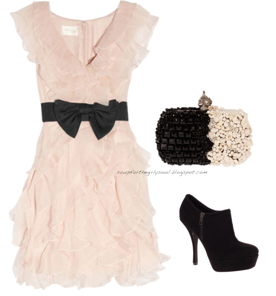 Soup For Every Girl's Soul: Polyvore OOTD: Girly Glamour